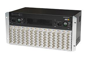 шасси Q7920: возможность подключить IP-видеосервер Q7406, Q7414 и другие бескорпусные платы AXIS