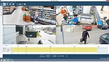 воспроизведение видео средствами программы видеонаблюдения Axis Camera Station