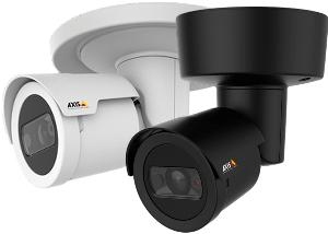 цилиндрическая 2 MP уличная камера AXIS с ИК подсветкой с белым или черным корпусом
