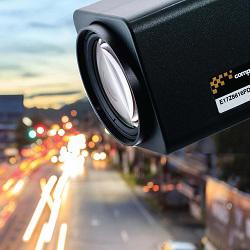 длиннофокусный объектив камеры наблюдения c 24-кратным зумом