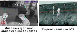 биспектральная IP камера-тепловизор с предустановленным ПО видеоаналитики